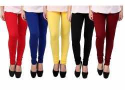 cotton-lycra-leggings-for-woman-pack-of-5-free-size