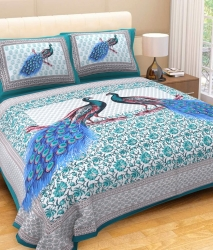 Naqsh Fancy Cotton Bedsheet with 2 Pillow Covers - King Size