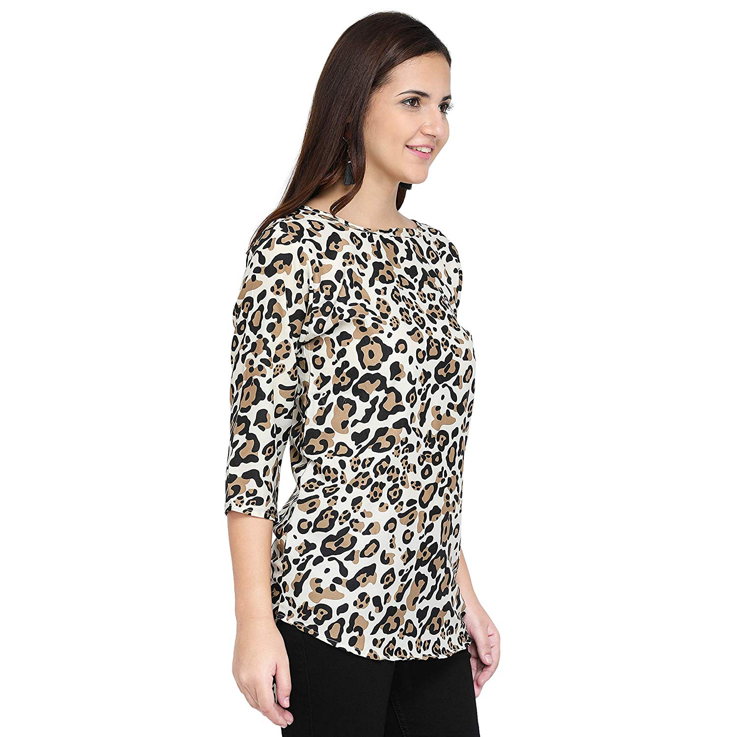 9bb0d055ce039e ... Plain Diamond Creap Top For Daily wear Stylish Casual and Western Wear  Women/Girls Top. By Online Retail Market