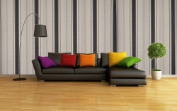 VERTICAL STRIPES DESIGN WALLPAPER-KONARK DECOR